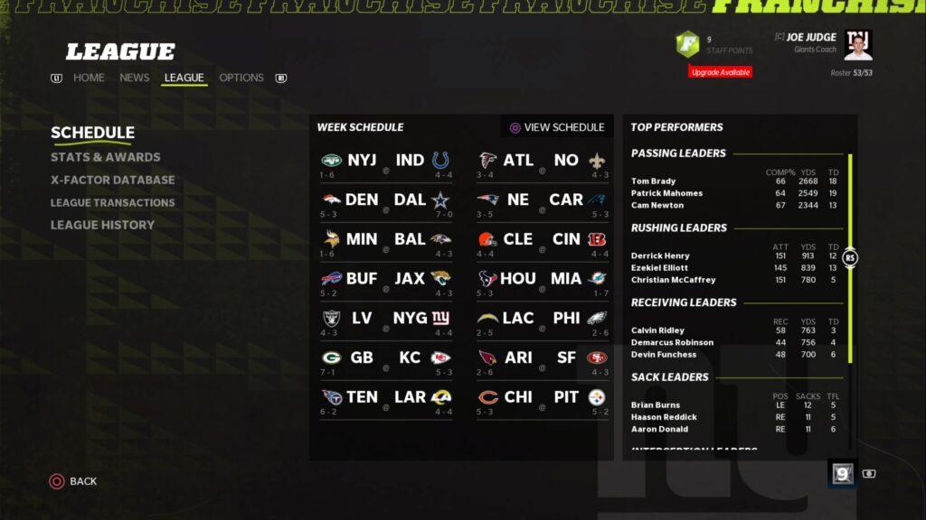 Madden 22 online league