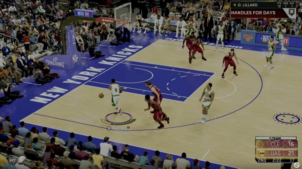 NBA 2K22 pick and roll defense 1