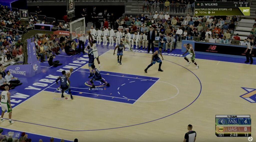NBA 2K22 contact animations