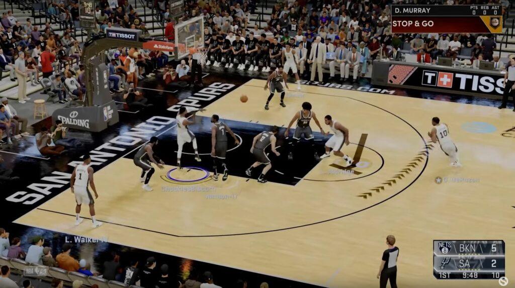 NBA 2K22 gameplay focus