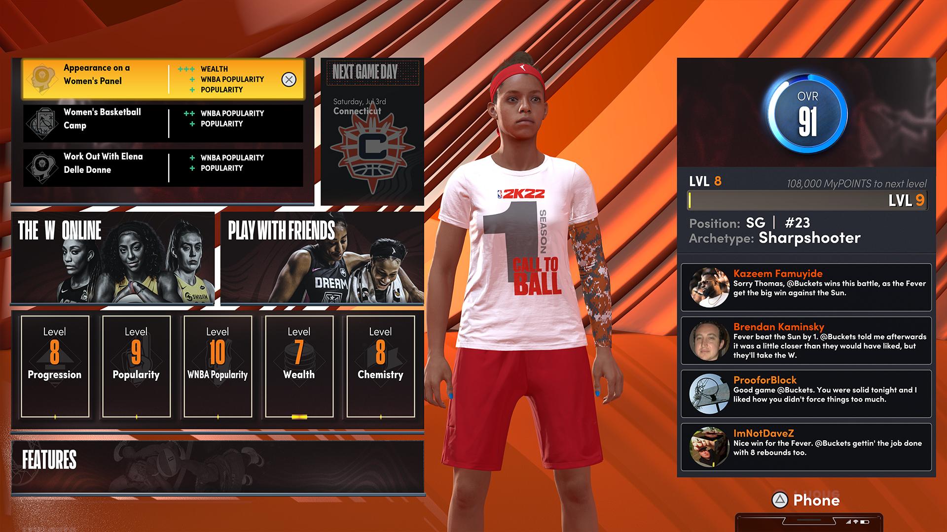 NBA 2K22 The W