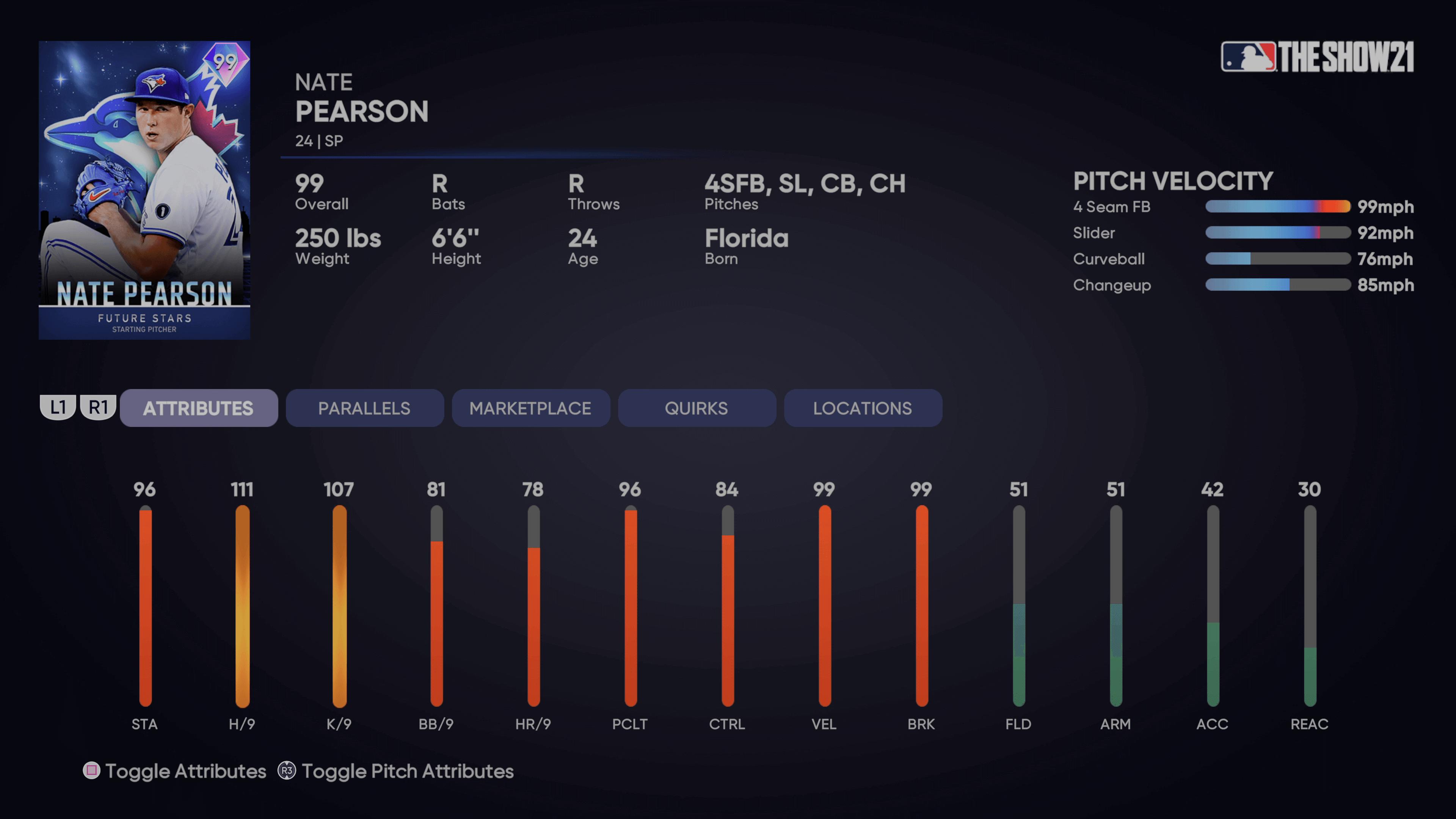 MLB The Show 21 - Headliners Set 37 Future Stars Nate Pearson_2021-09-10_15-12-18