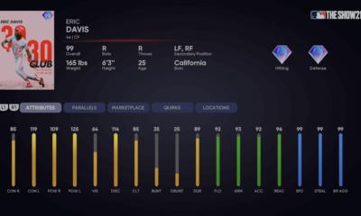 Milestone Eric Davis Ranked Season 6 MLB The Show 21