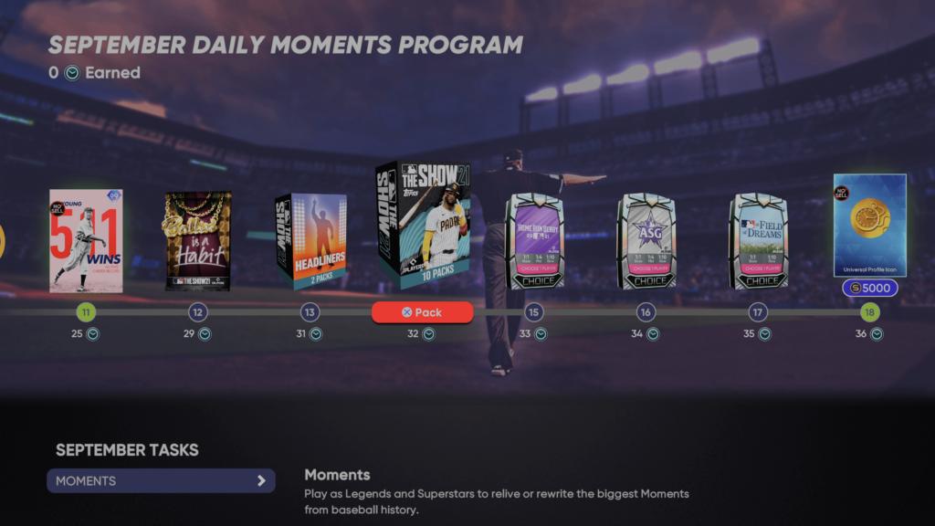 September Daily Moments Program