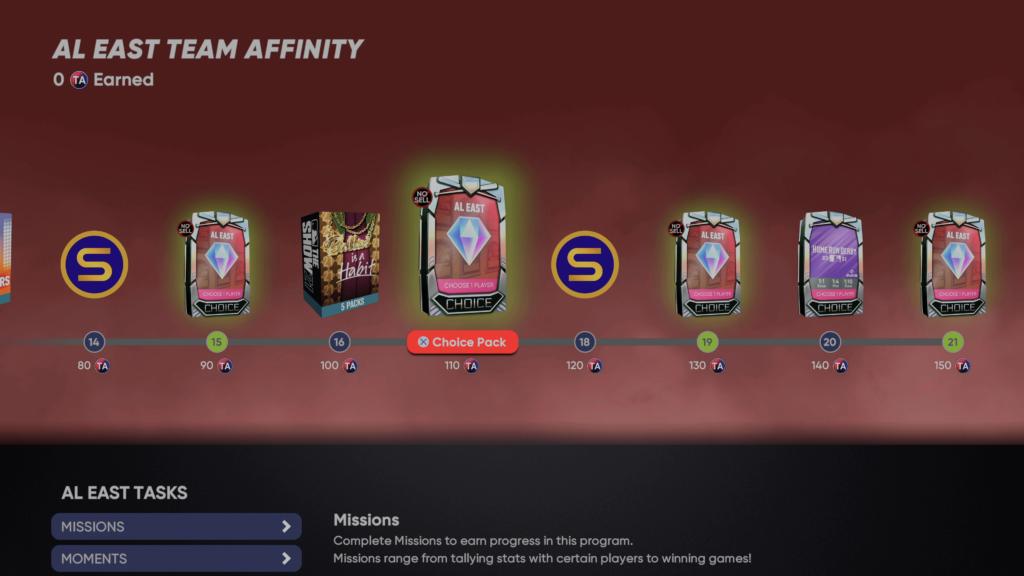 Team Affinity Season 4 rewards