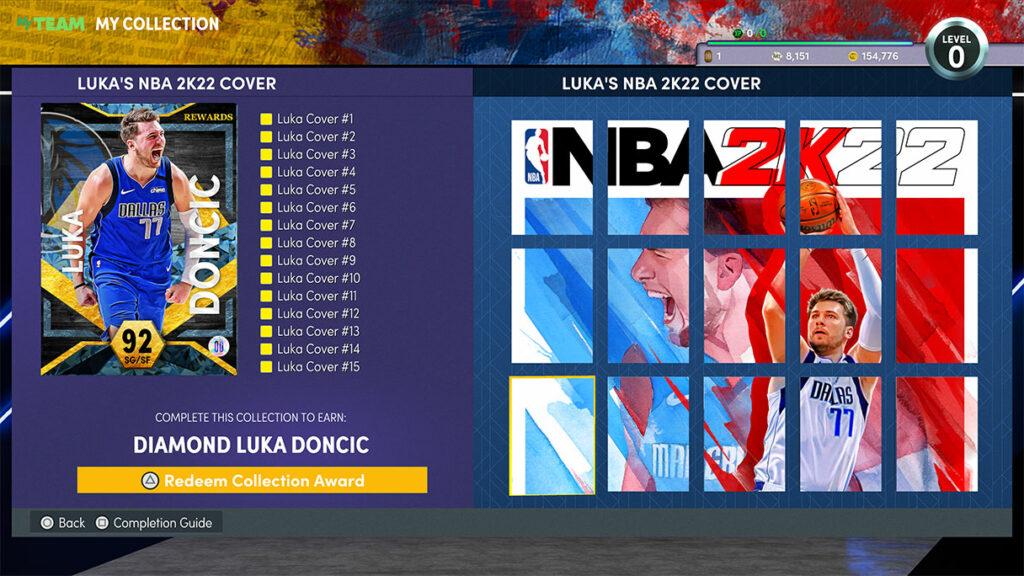 NBA 2K22 MyTEAM Event Cards Luka Mural