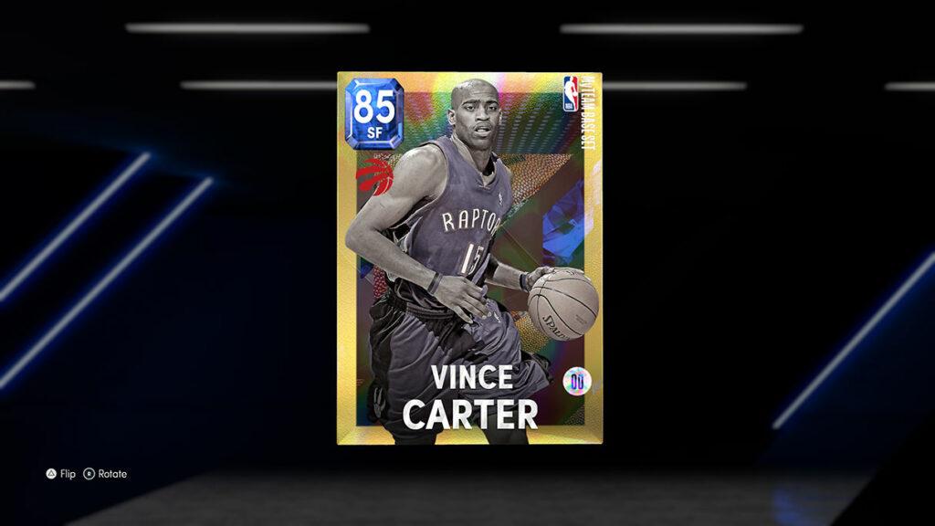 NBA 2K22 MyTEAM Holo Player Card Vince Carter