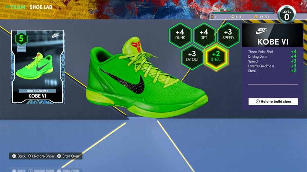 NBA 2K22 MyTEAM Shoe Lab