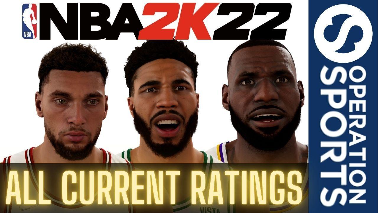 NBA 2K22 All Player Ratings