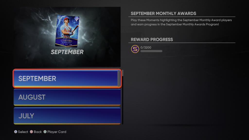 September Monthly Awards Program Moments