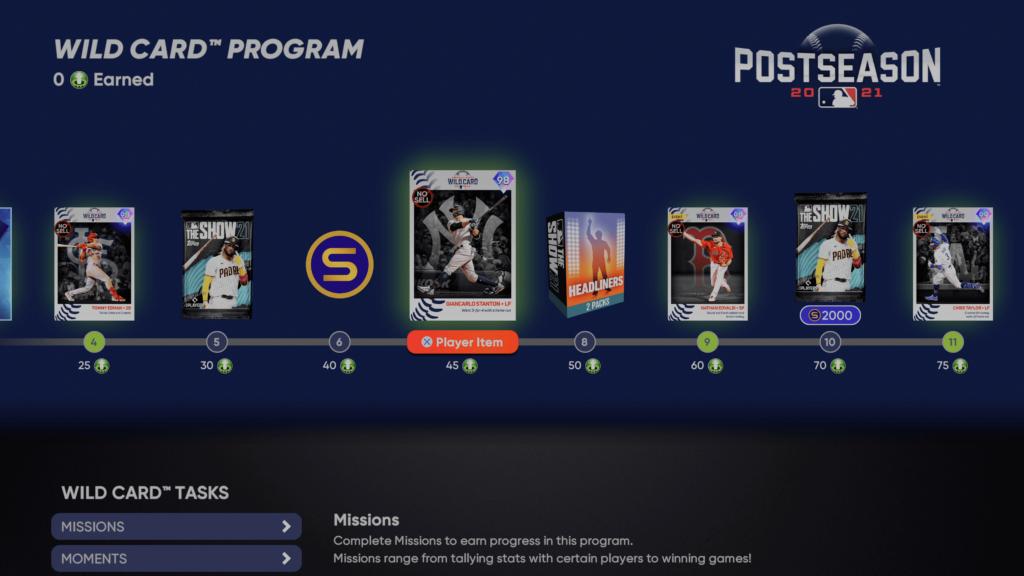 Wild Card Postseason Program Rewards
